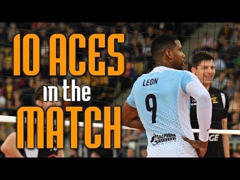 Wilfredo Leon 10 aces in match Kazan - Kemerovo