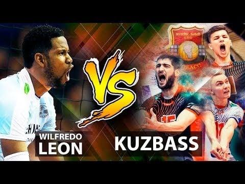 Wilfredo Leon in match Kuzbass Kemerovo - Zenit Kazan