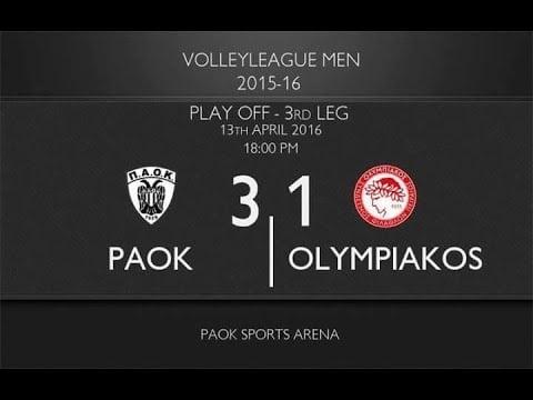 P.A.O.K. Thessaloniki - Olympiacos Piraeus (Highlights)