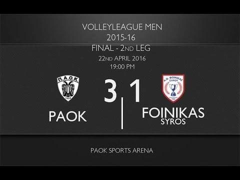 P.A.O.K. Thessaloniki - Foinikas Syrou (Highlights)