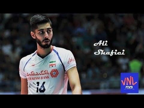 Ali Shafiei in match Australia - Iran