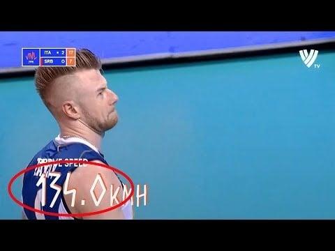 Ivan Zaytsev 134km/h serve (Italy - Serbia)