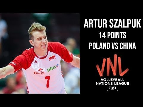 Artur Szalpuk in match Poland - China