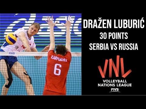 Dražen Luburić in match Russia - Serbia