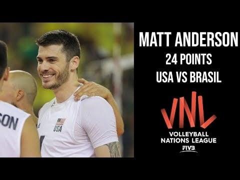 Mattew Anderson in match Brazil - USA