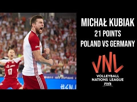 Michał Kubiak in match Poland - Germany