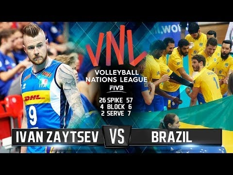 Ivan Zaytsev in match Italy - Brazil