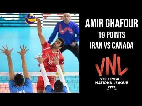 Amir Ghafour in match Iran - Canada
