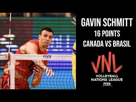 Gavin Schmitt in match Canada - Brazil