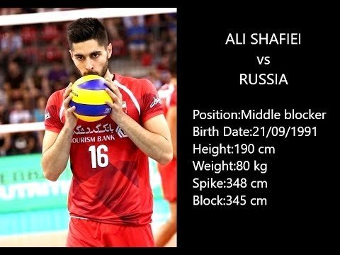 Ali Shafiei in match Russia - Iran