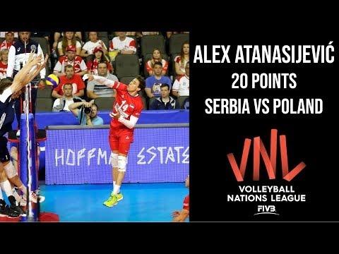Aleksandar Atanasijević in match Poland - Serbia