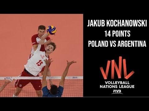 Jakub Kochanowski in match Poland - Argentina