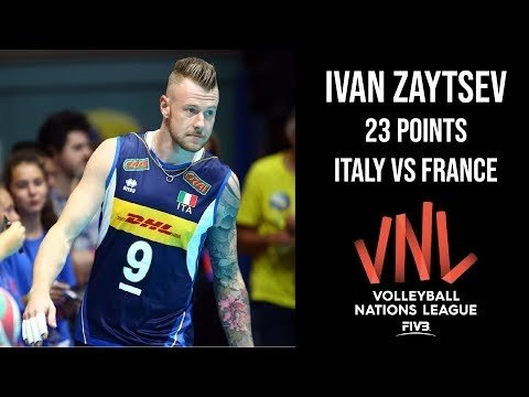 Ivan Zaytsev in match Italy - France