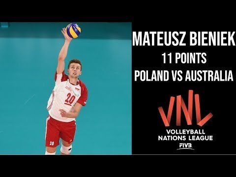 Mateusz Bieniek in match Australia - Poland