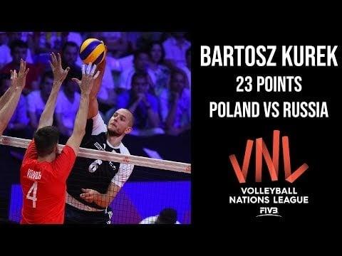 Bartosz Kurek in match Russia - Poland