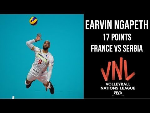Earvin N'Gapeth in match France - Serbia