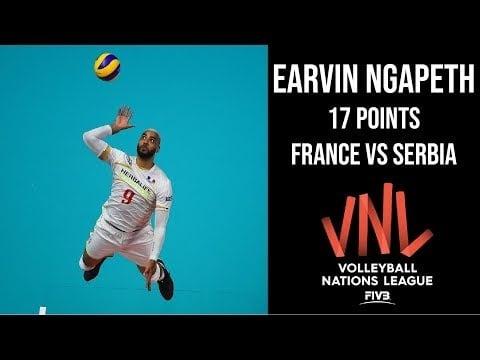Earvin N'Gapeth in match France - Serbia