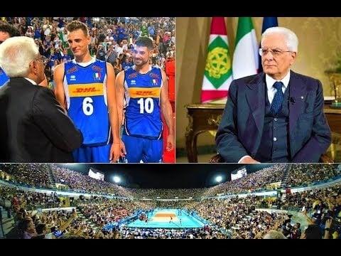Sergio Mattarella President of Italy in the opening ceremony
