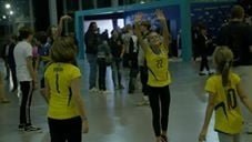 Volleyball fans in Torino