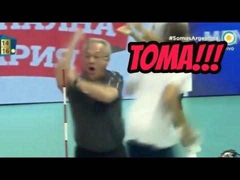 Julio Velasco emotional reaction