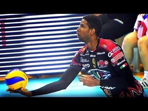 Wilfredo Leon in match Perugia - Trentino