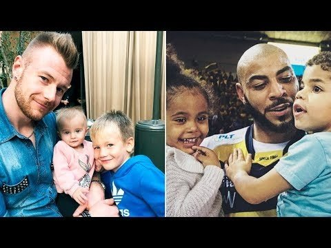 Volleyball Stars Players with Their Kids