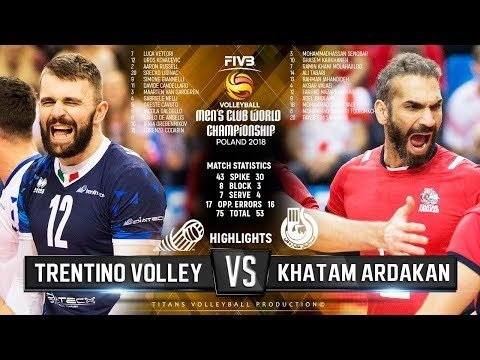 Trentino Volley - Khatam Ardakan (Highlights)
