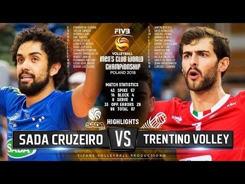 Sada Cruzeiro Volei - Trentino Volley (Highlights)
