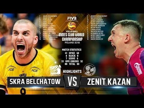 Skra Bełchatów - Zenit Kazan (Highlights)