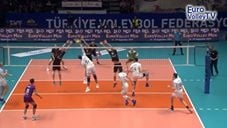 Earvin N'Gapeth leg dig and pipe attack