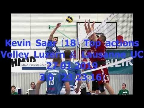 Kevin Saar in match Luzern - Lausanne