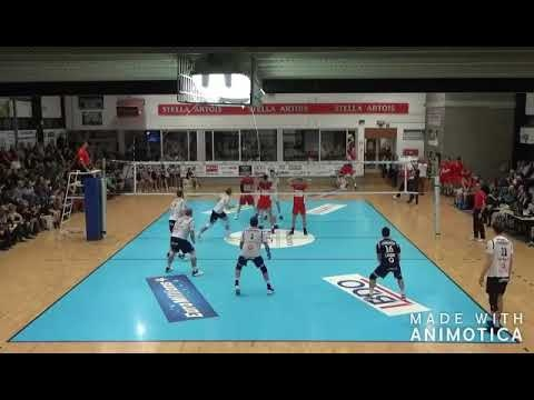 Alex Grozdanov 6 blocks in match Leuven - Maaseik