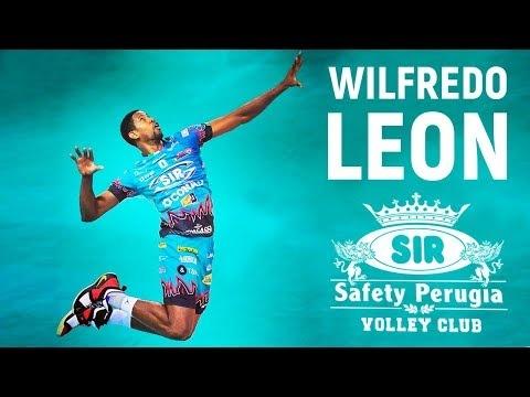 Wilfredo Leon in match Perugia - Lube
