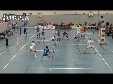 Kevin Saar in match Top Volley Luzern - Volley Amriswil