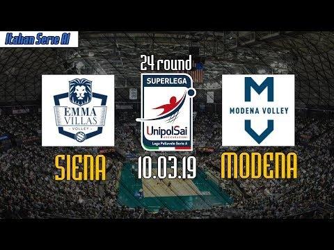 Emma Villas Siena - Modena Volley (full match)