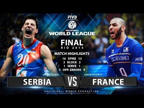 Serbia - France (highlights, 3rd movie)