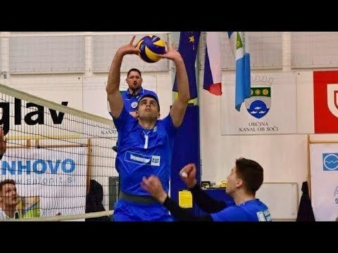 Nikola Zivanovic in match Salonit Anhovo - Volley Ljubljana