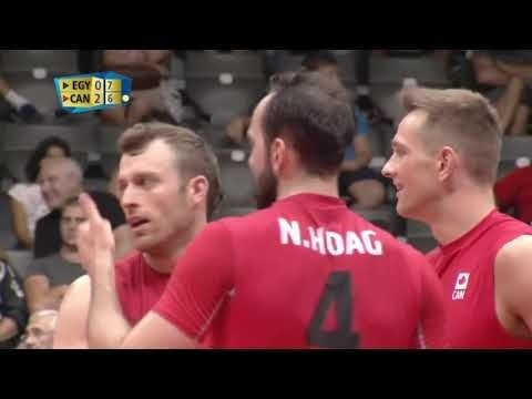 Jay Blankenau Freeball Spike in match Egypt - Canada