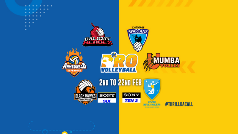 Indian Pro Volleyball League 2019 to start from 2nd February 2019