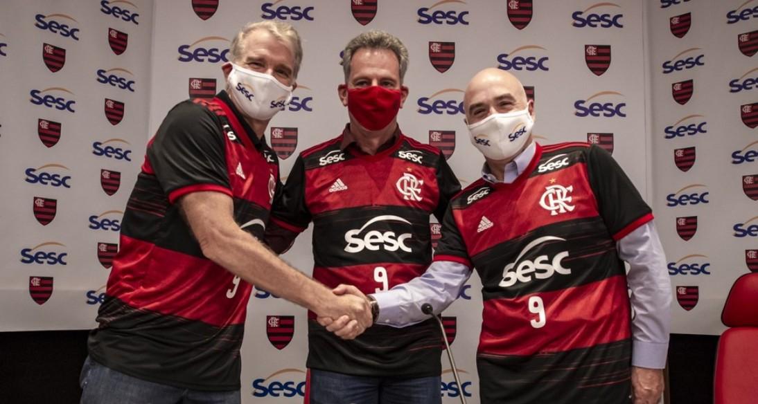 """Flamengo e Bernardinho celebram parceria com o Sesc-RJ no vôlei: """"Momento histórico"""""""